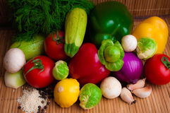 Raw vegetables for a healthy diet. Raw juicy vegetables for a healthy diet royalty free stock photography