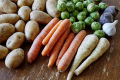 Raw vegetables healthy groceries Royalty Free Stock Photography