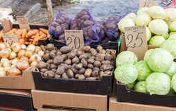 Raw vegetables ready for sale at the local market Stock Photography