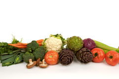 Raw vegetables in a row Stock Photo