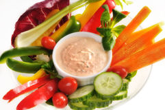 Raw Vegetables Salad Stock Images
