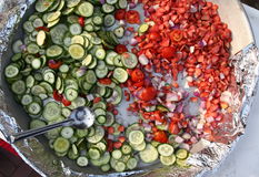 Raw vegetables: Salads Stock Photography