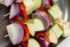 Raw vegetables skewer Royalty Free Stock Image