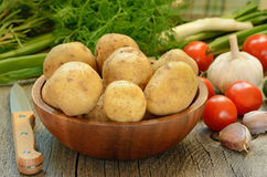 Raw vegetables on table Stock Photography