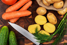 Raw vegetables Royalty Free Stock Photo