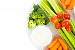 Raw Veggie Tray Stock Image