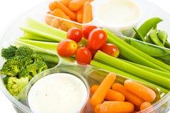 Raw Veggie Tray Closeup stock photo