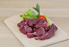 Raw venison Royalty Free Stock Image