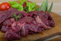Raw venison Stock Photography