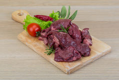 Raw venison Royalty Free Stock Photography