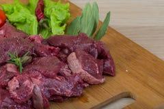 Raw venison Stock Photo