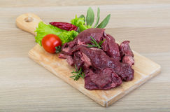 Raw venison Stock Images