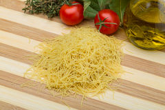 Raw vermicelli Stock Image