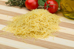 Raw vermicelli Stock Images