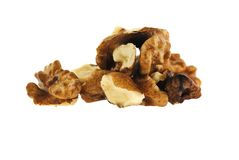 Raw walnuts Stock Photography
