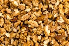 Raw walnuts halves (lat. Juglans regia) Royalty Free Stock Image