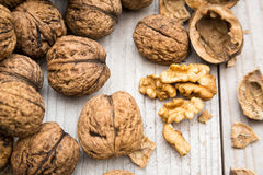 Raw Walnuts Royalty Free Stock Images