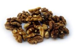 Raw Walnuts  On White Royalty Free Stock Photos