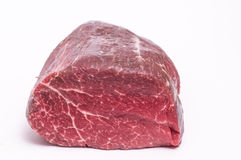 Raw well-hung organic fillet of beef Royalty Free Stock Images