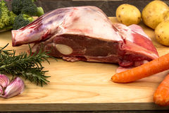 Raw Welsh Lamb shoulder Royalty Free Stock Images