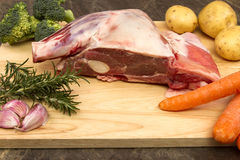 Raw Welsh Lamb shoulder Stock Photography