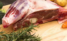 Raw Welsh Lamb shoulder Royalty Free Stock Photos
