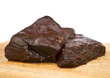 Raw whale meat royalty free stock image