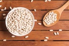 Raw white beans Royalty Free Stock Photo