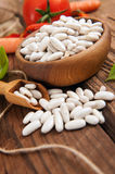 Raw White beans Royalty Free Stock Photography