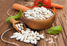 Raw White beans Royalty Free Stock Photo