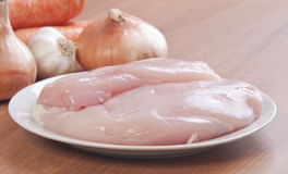 Raw white chicken meat Royalty Free Stock Image