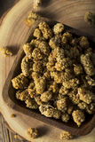 Raw White Dried Mulberries Stock Photos