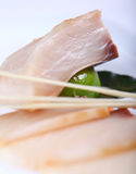 Raw white fish with sauce Stock Photography