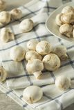 Raw White Organic Baby Button Mushrooms. Ready to Cook Royalty Free Stock Images