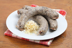 Raw white pudding Royalty Free Stock Images