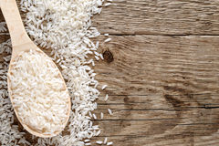 Raw white rice Royalty Free Stock Photography