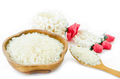 Raw white rice from Thailand Stock Photography