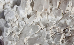 Raw white rock cristal Royalty Free Stock Photo