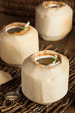 Raw White Young Coconut Drink Royalty Free Stock Photos