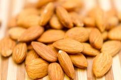 Raw Whole Almonds Stock Photo