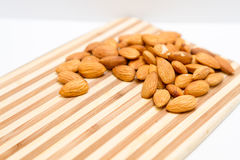 Raw Whole Almonds Royalty Free Stock Images