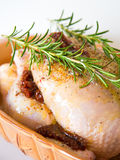 Raw whole chicken Stock Photo