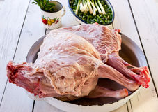 Raw whole lamb Royalty Free Stock Images