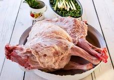 Raw whole lamb Royalty Free Stock Images