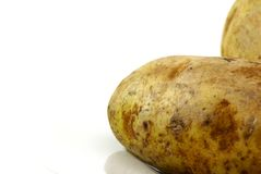 Raw Whole Potatos Stock Photography