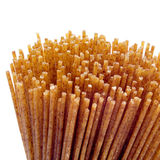 Raw whole wheat spaghetti Stock Images