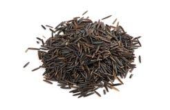 Raw wild rice Stock Photo