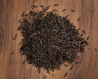 Raw wild rice Royalty Free Stock Images