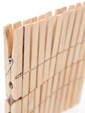 Raw wood clothepin Stock Images