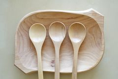 Raw Wood Spoons Royalty Free Stock Image